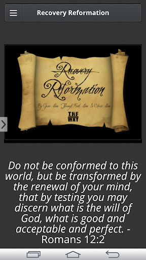Recovery Reformation