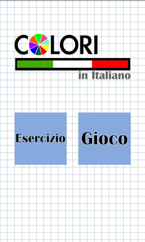 Colors in italian - screenshot