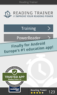 Reading Trainer- screenshot thumbnail