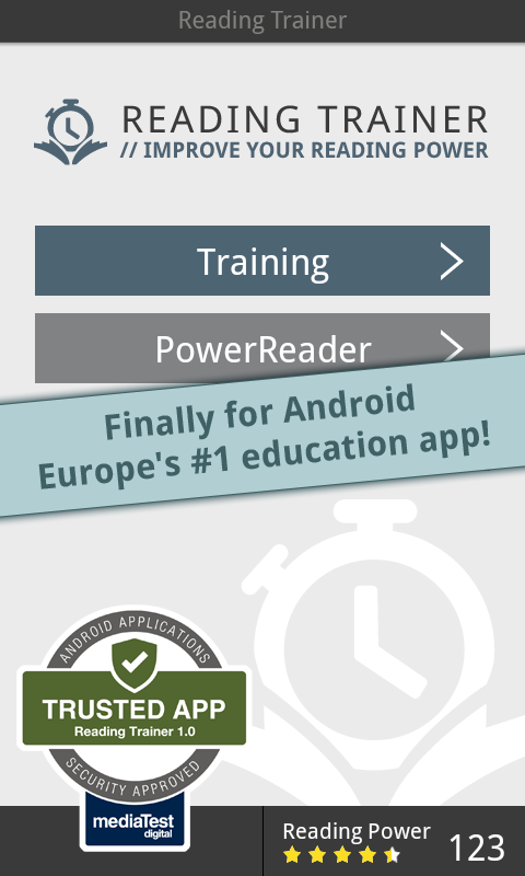 Reading Trainer - screenshot