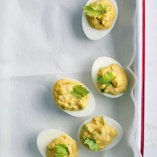 Old Bay Deviled Eggs.