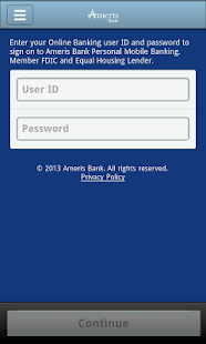 Ameris Bank Personal Mobile- screenshot thumbnail