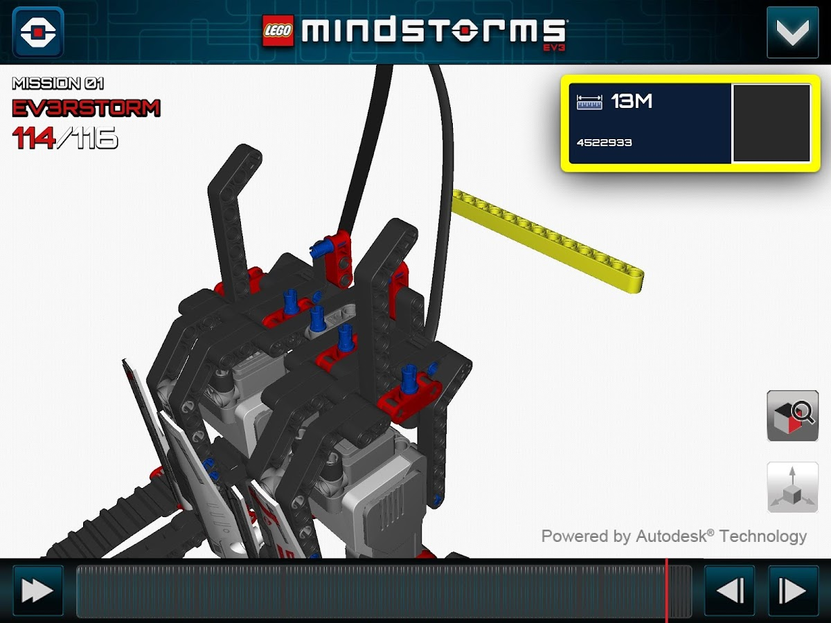 LEGO® MINDSTORMS® 3D Builder - screenshot
