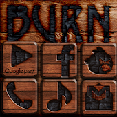 Burn Wood GO Launcher EX Theme