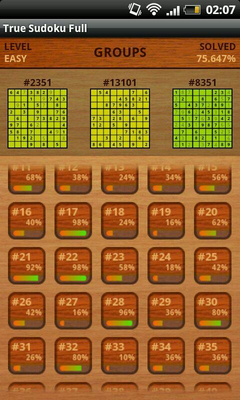True Sudoku!- screenshot