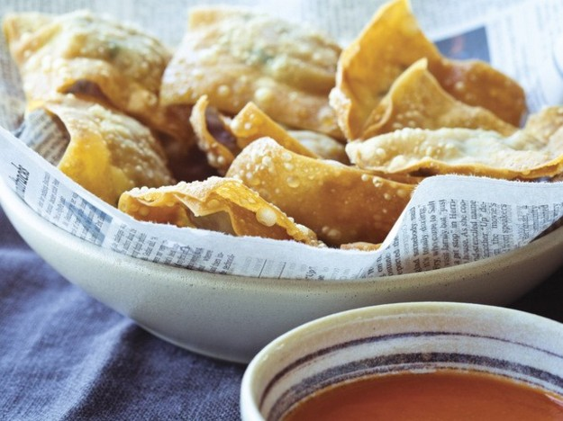 Charles Phan's Hoi An Wontons with Spicy Tomato Sauce