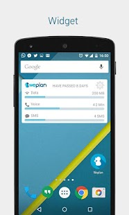 Weplan: Data and voice usage- screenshot thumbnail