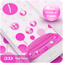 NextLauncher Theme PinkBubbles