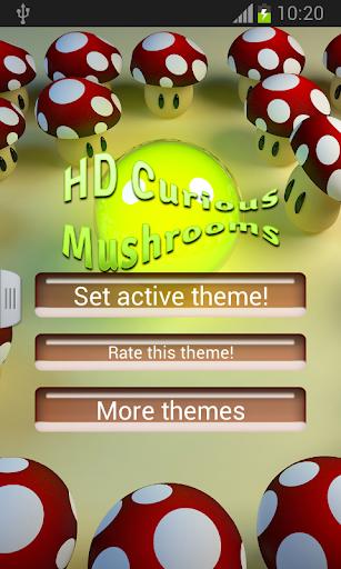 高清好奇的蘑菇鍵盤