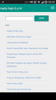 Screenshot of Hadis Nabi s.a.w