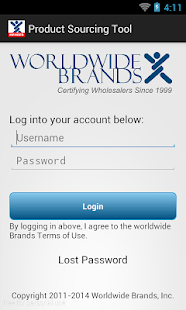 WWB Product Sourcing App- screenshot thumbnail
