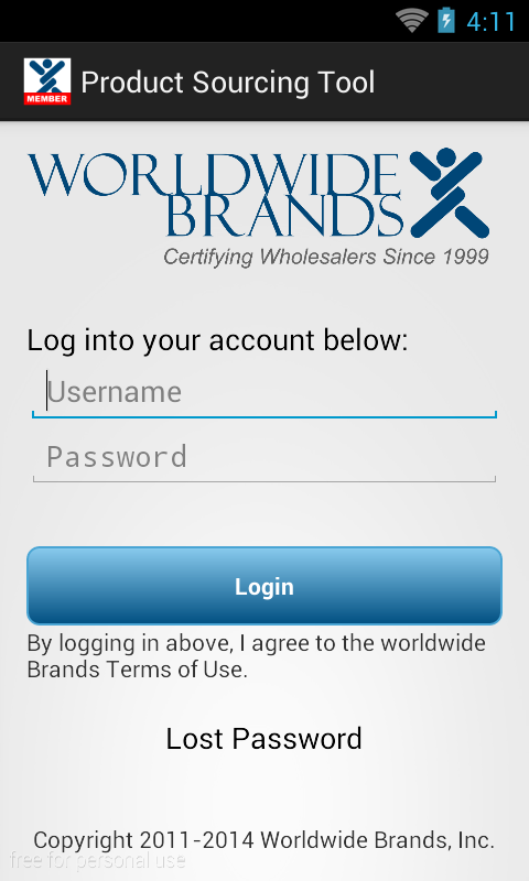 WWB Product Sourcing App- screenshot