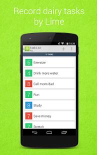 Lime To-Do Task List