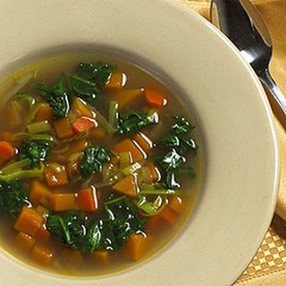 Butternut Squash Soup With Spinach
