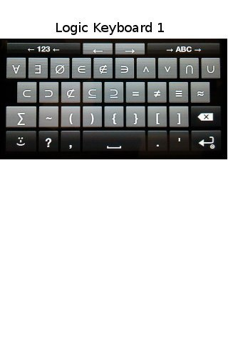 Logic Symbols Keyboard- screenshot