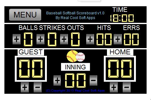 Real Cool Baseball Scoreboard