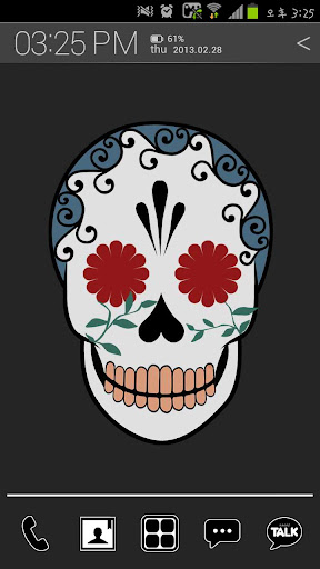 Funky Skull Atom theme