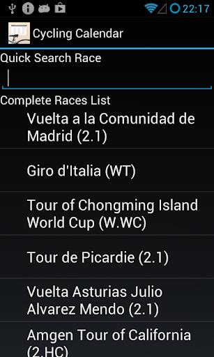 Cycling Calendar 2015