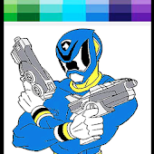 Hero Rangers Coloring book
