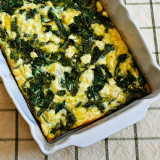 Kale and Feta Breakfast Casserole.