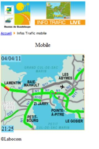 Trafic routier Guadeloupe - screenshot