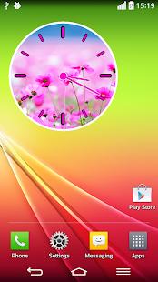 粉紅色的時鐘部件