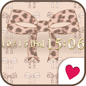 Cute wallpaper★Leopard ribbon