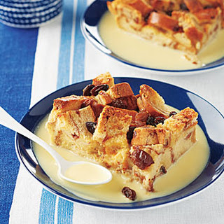 Cinnamon-Raisin Bread Pudding with Rum Sauce