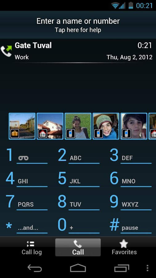 TAKEphONE contacts dialer - screenshot