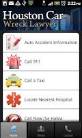 Screenshot of Houston Car Wreck Lawyer