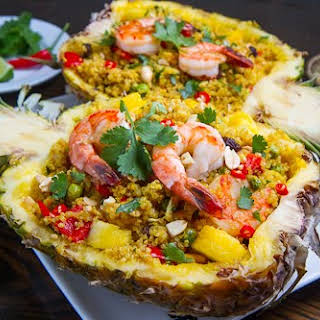 Pineapple and Shrimp Fried Quinoa.