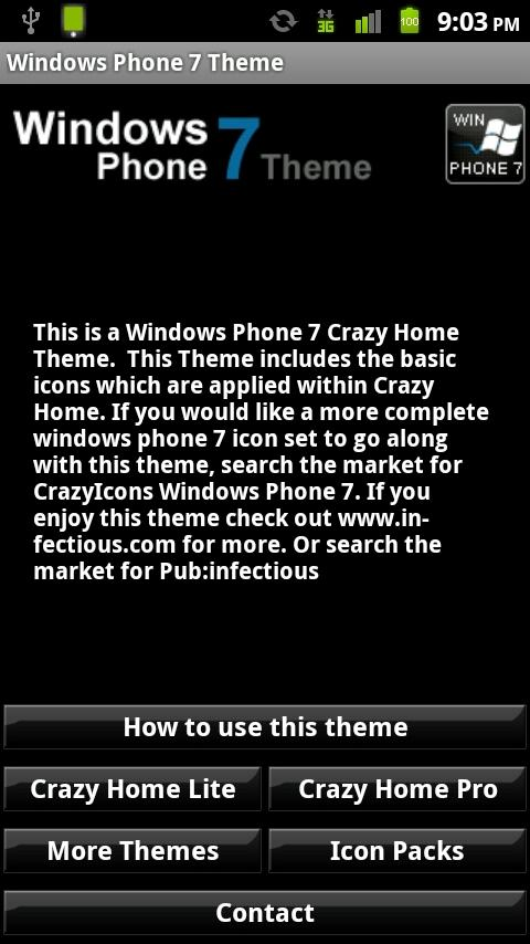 Crazy Home Windows Phone 7 - screenshot