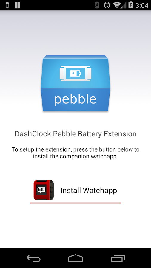 Pebble Battery for DashClock- screenshot