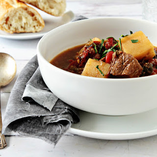 Roasted Poblano Beef Stew.