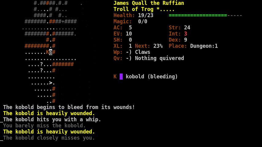 Dungeon Crawl:SS (ASCII)- screenshot