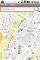 Screenshot of NYC Bike 'n Park