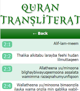 Lastest Quran Transliteration APK for Android