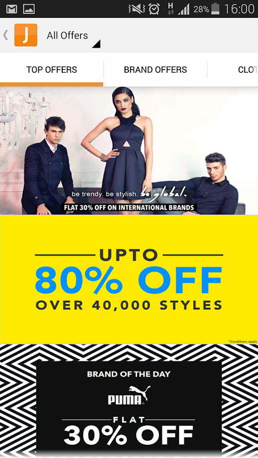 Discount coupons jabong