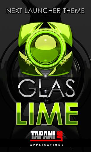 Next Launcher Theme glas lime