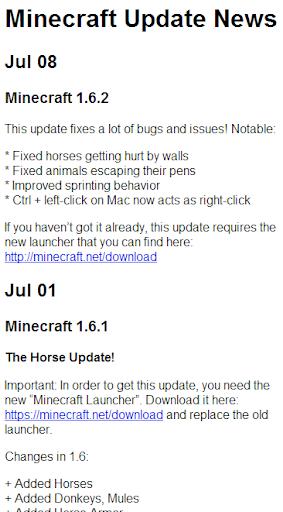 Minecraft Update News