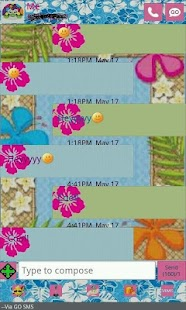 GO SMS THEME/hawaiiantropic - screenshot thumbnail