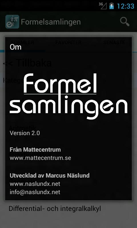 Formelsamlingen.se - screenshot