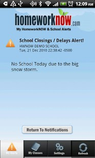 My HomeworkNOW & School Alerts - screenshot thumbnail