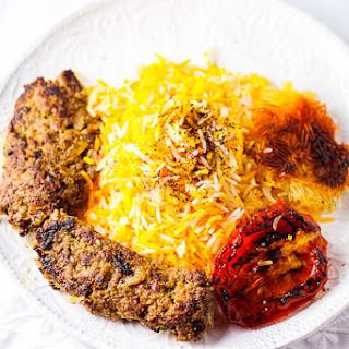 Stovetop Beef Kabob and Basmati Rice (Chelow Kabob Deegi).