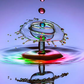 Lolypop by Aditya Permana - Abstract Water Drops & Splashes ( reflection, , fall, color, colorful, nature )