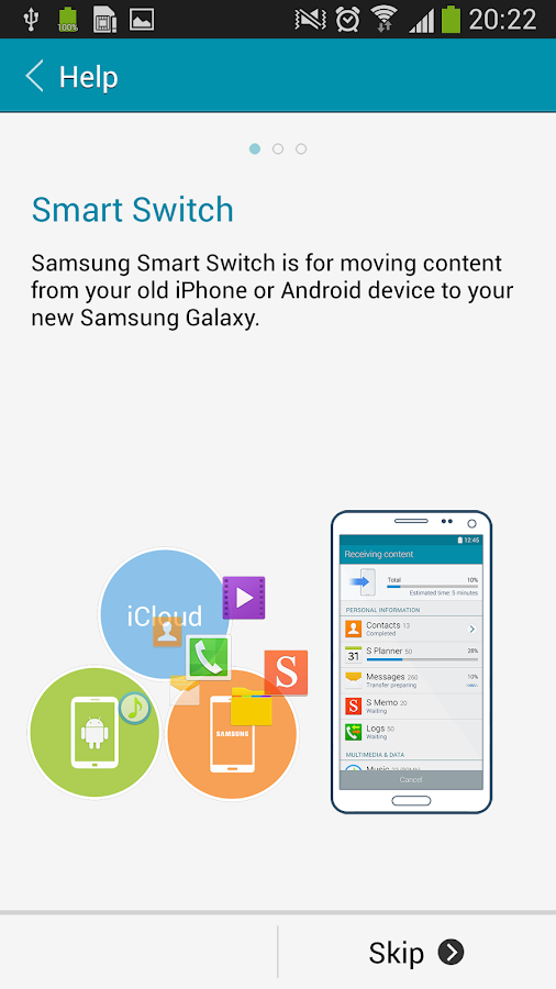Samsung Smart Switch Mobile - screenshot