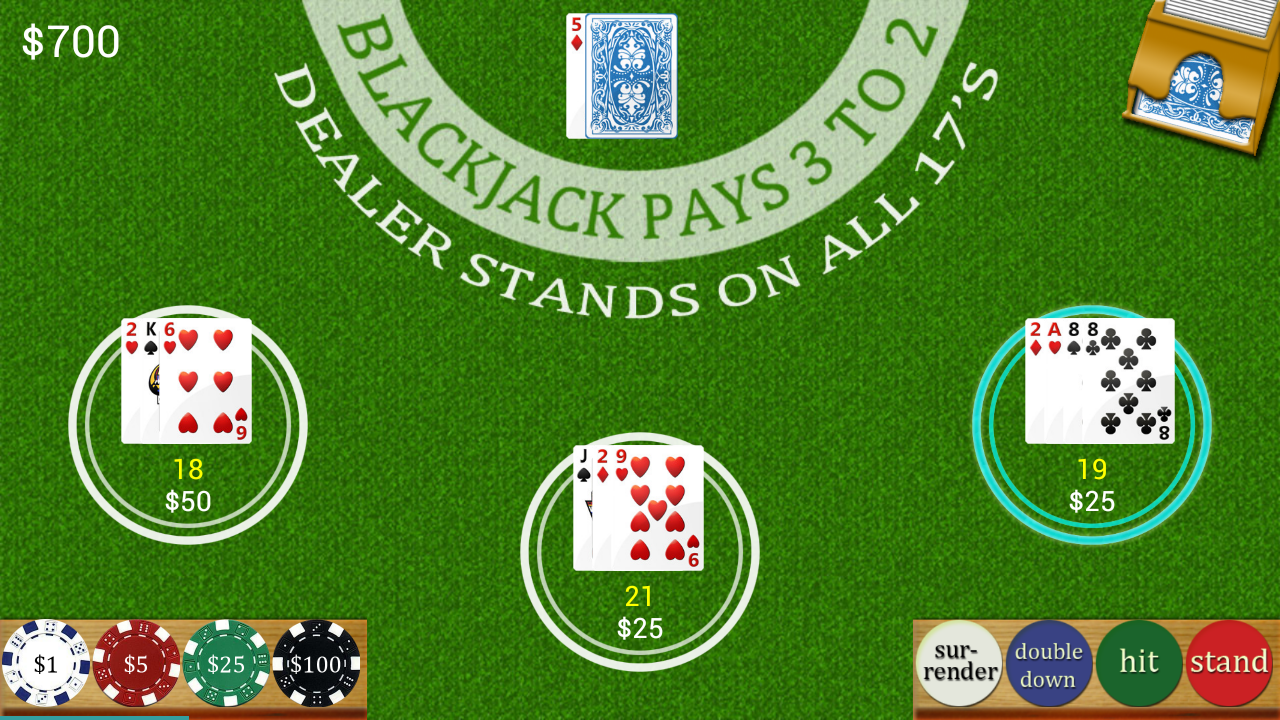 Multi Hand Blackjack- screenshot