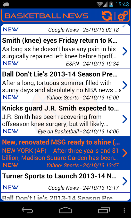 New York Basketball News - screenshot