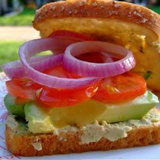 Veggie and Cilantro Hummus Sandwiches.