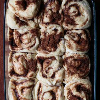 Overnight Cinnamon Rolls with Maple Cream Cheese Icing